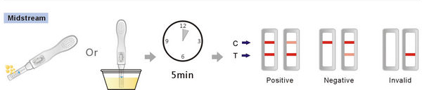 ovulation midstream test directions