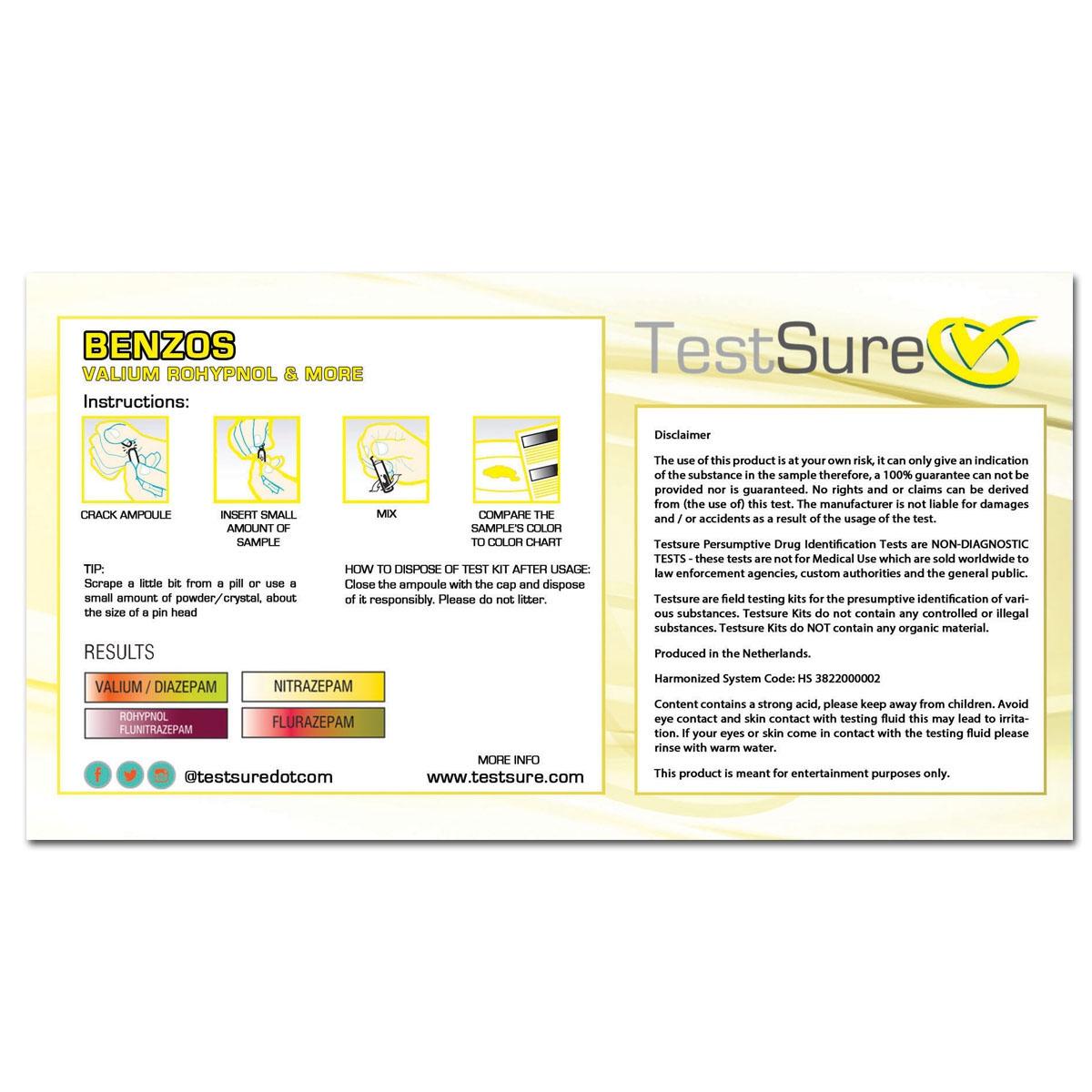 Benzodiazepine Test Kit 1 Reagent To Identify Benzos